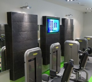 Gym feature wall